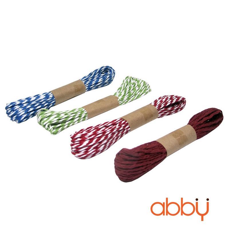 Dây buộc túi cuộn dài đỏ trắng (10m)