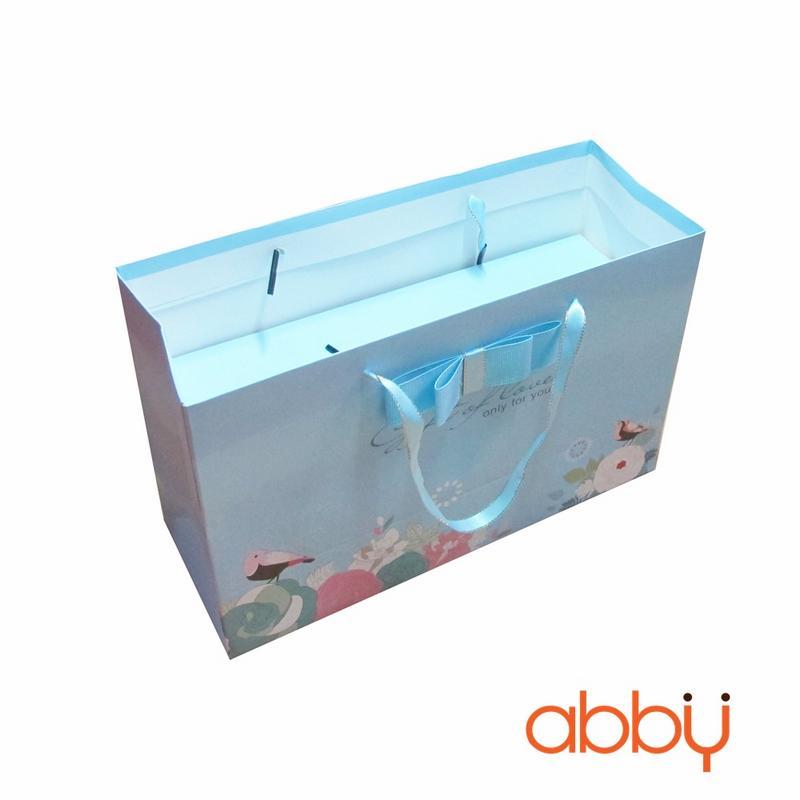 Bộ túi và 2 hộp đựng bánh dứa Gift of love xanh dương