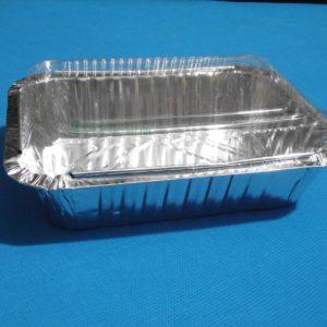 Khuôn giấy bạc chữ nhật kèm nắp nhựa 20x11x5.4cm (10 chiếc)