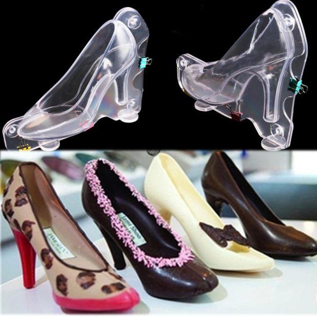 Khuôn nhựa 3D hình giày cao gót 13x10x5.5cm