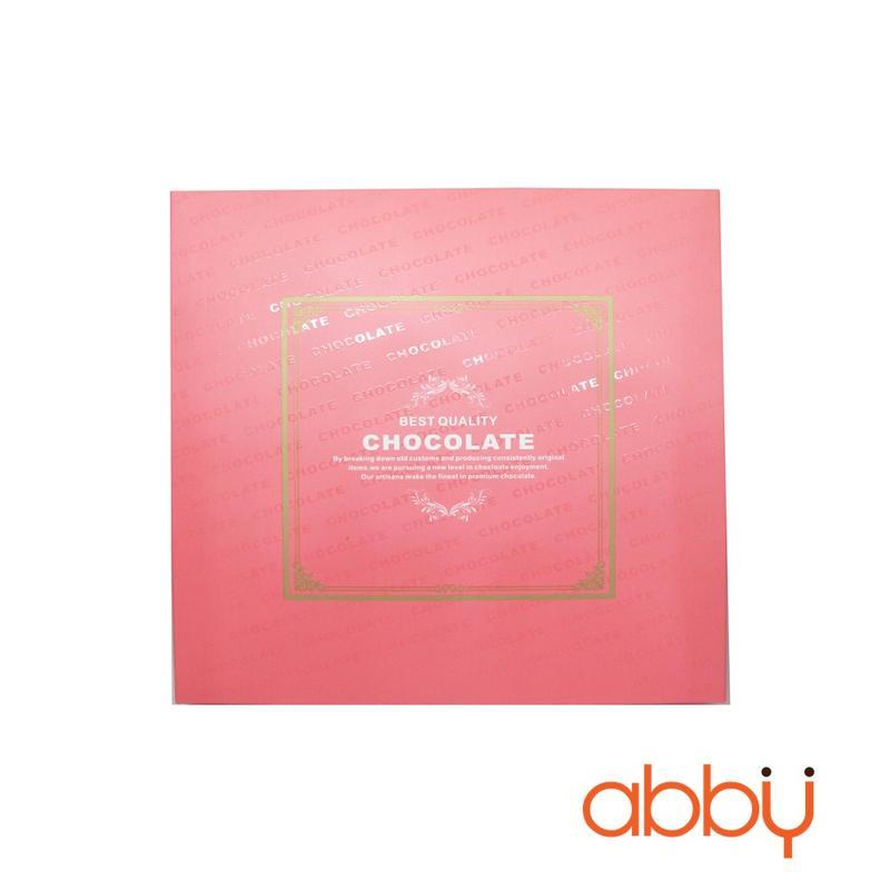 Hộp nama socola 9 viên màu hồng