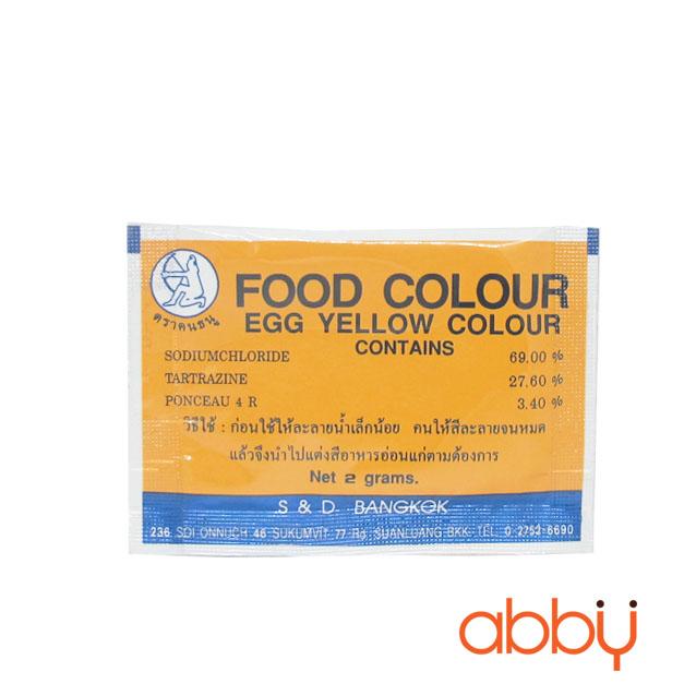Bột màu vàng trứng tự nhiên Thái Lan 2g