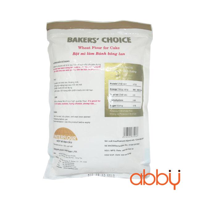 Bột mì Bakers' Choice số 8 (cake flour) 1kg