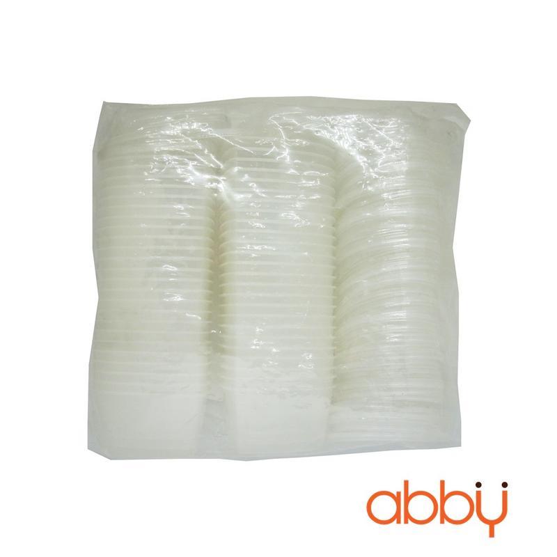 Hộp nhựa caramen tròn cao 3.5cm (50 chiếc)