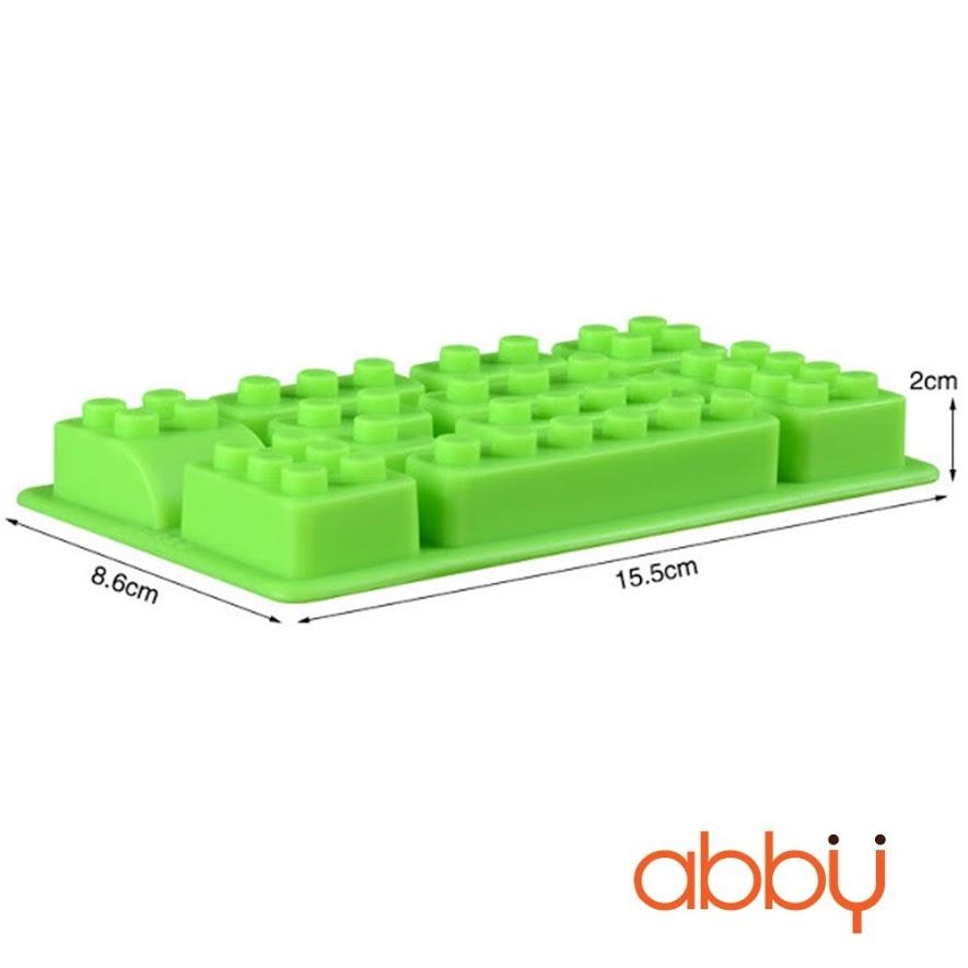 Khuôn silicon 10 viên Lego