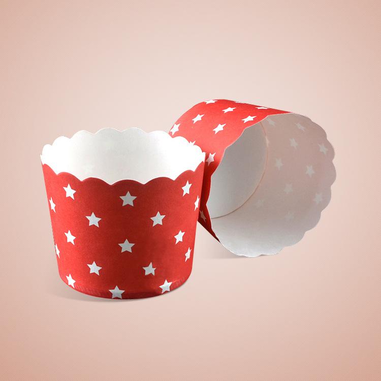 Cup giấy cứng 6x5cm mẫu ngôi sao (48 - 50 chiếc)