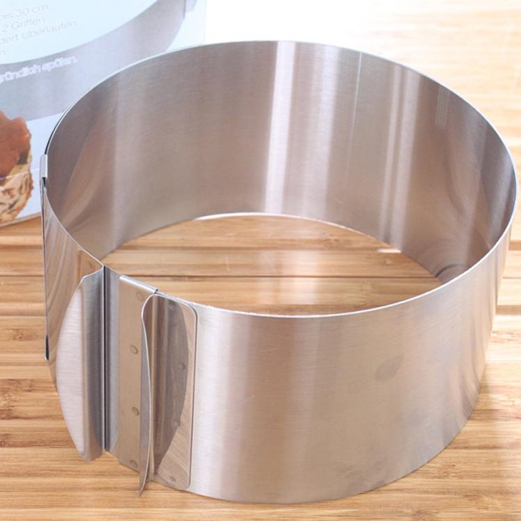 Khuôn ring mousse tròn điều chỉnh độ dài 16cm - 31cm