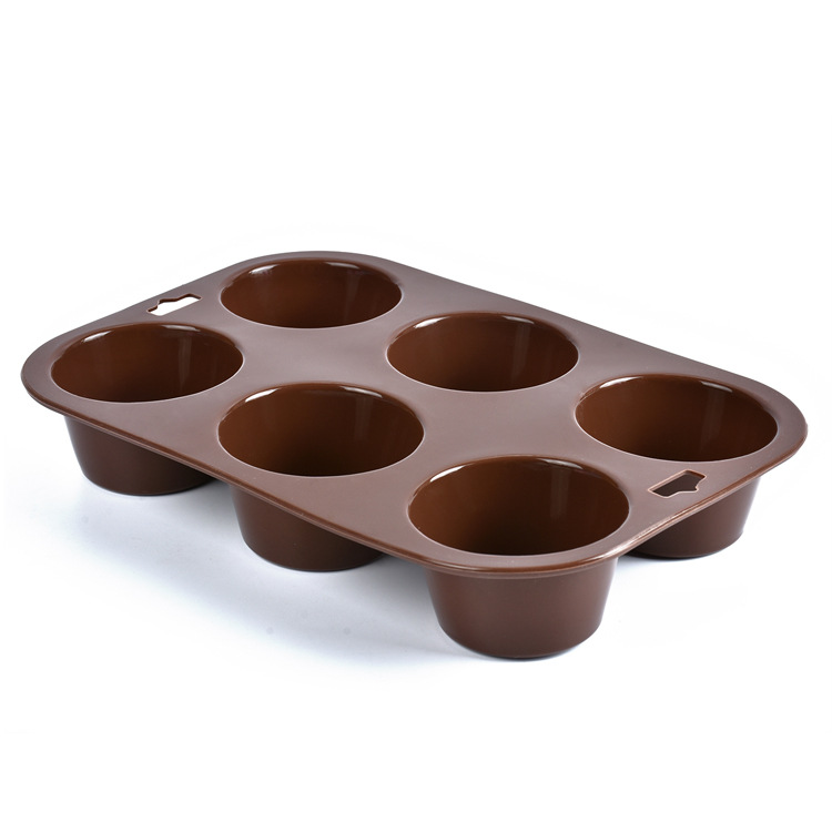 Khuôn silicon 6 ô hình cupcake