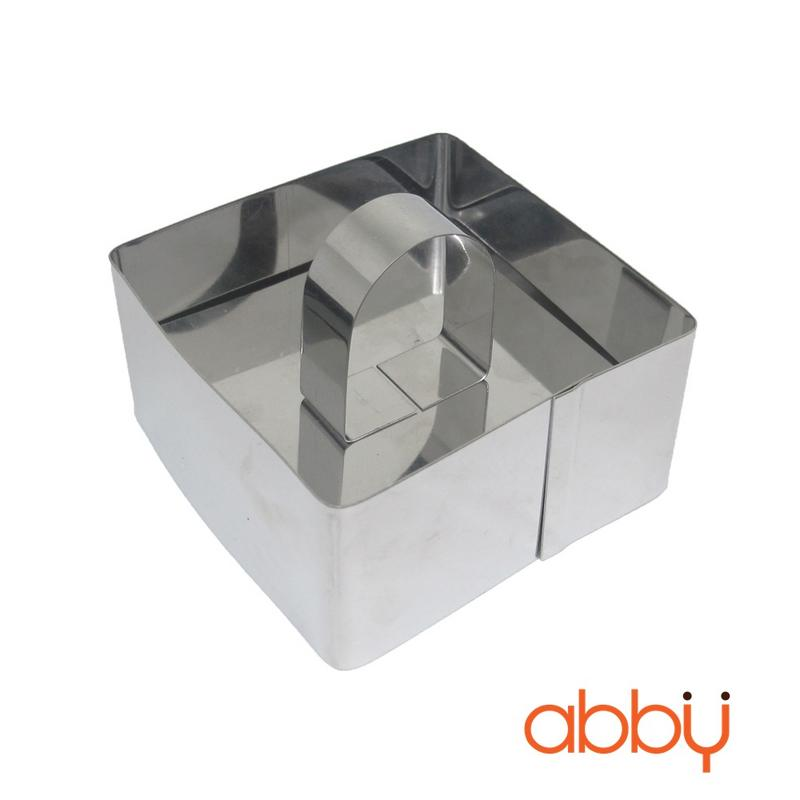 Khuôn mousse hình vuông 8cm