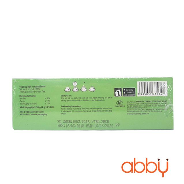 Trà xanh túi lọc Phúc Long 2g x 25 gói (1 hộp)