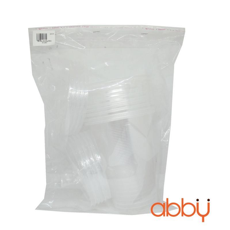 Cốc nhựa nắp bằng 500ml (10 chiếc)