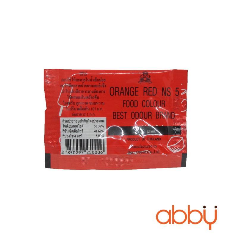 Bột màu đỏ cam tự nhiên Thái Lan 2g