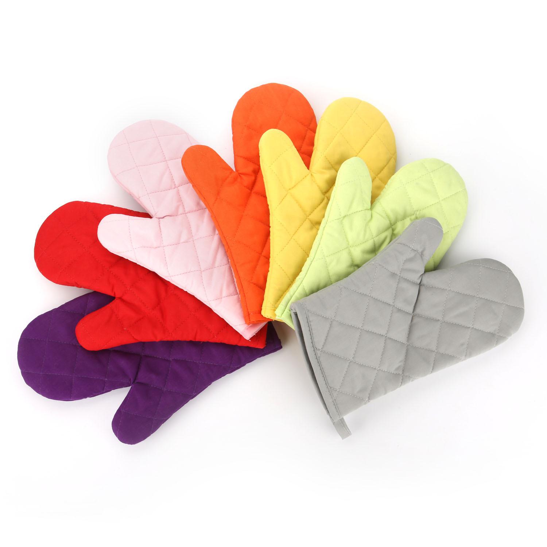 Găng tay chống nhiệt vải thô 28cm màu tím (70g)