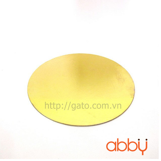 Đế bánh tròn vàng 22cm