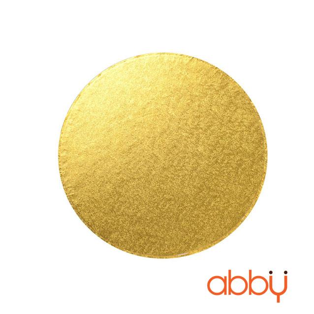 Đế bánh tròn vàng 26cm