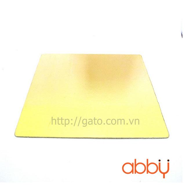 Đế bánh vuông vàng 26cm