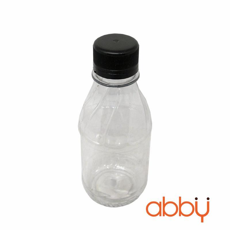Chai nhựa PET nắp đen 200ml