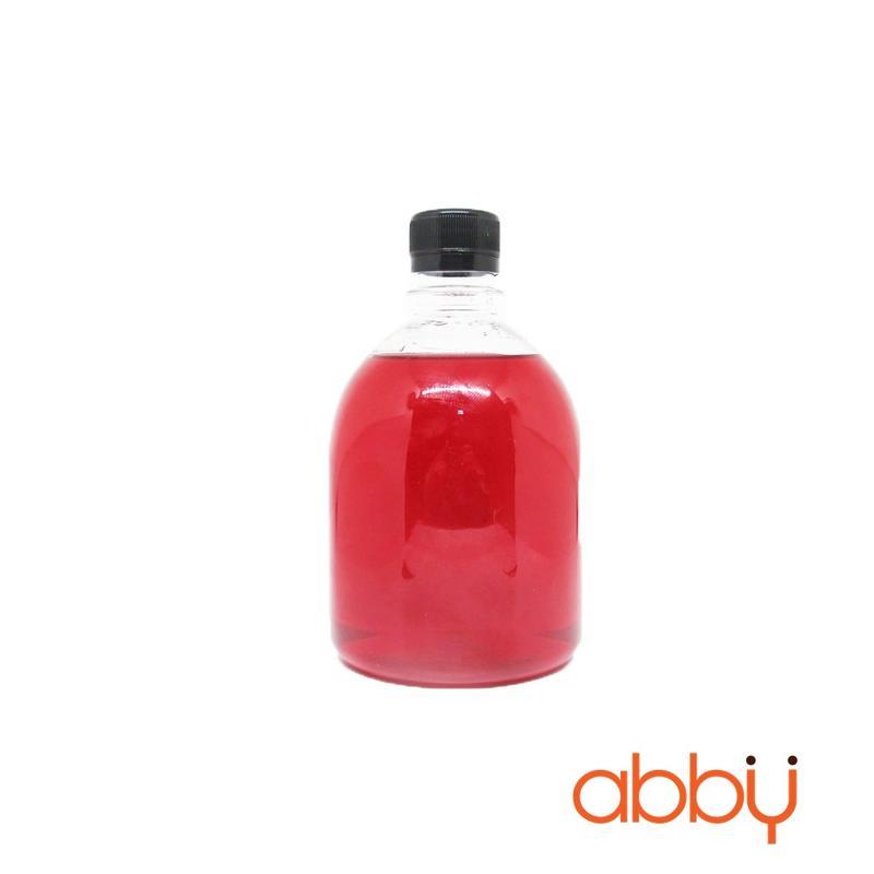 Chai nhựa PET tròn lùn nắp đen 500ml (10 chai)