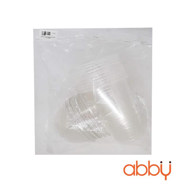 Cốc nhựa PP nắp cầu 500ml (10 chiếc)