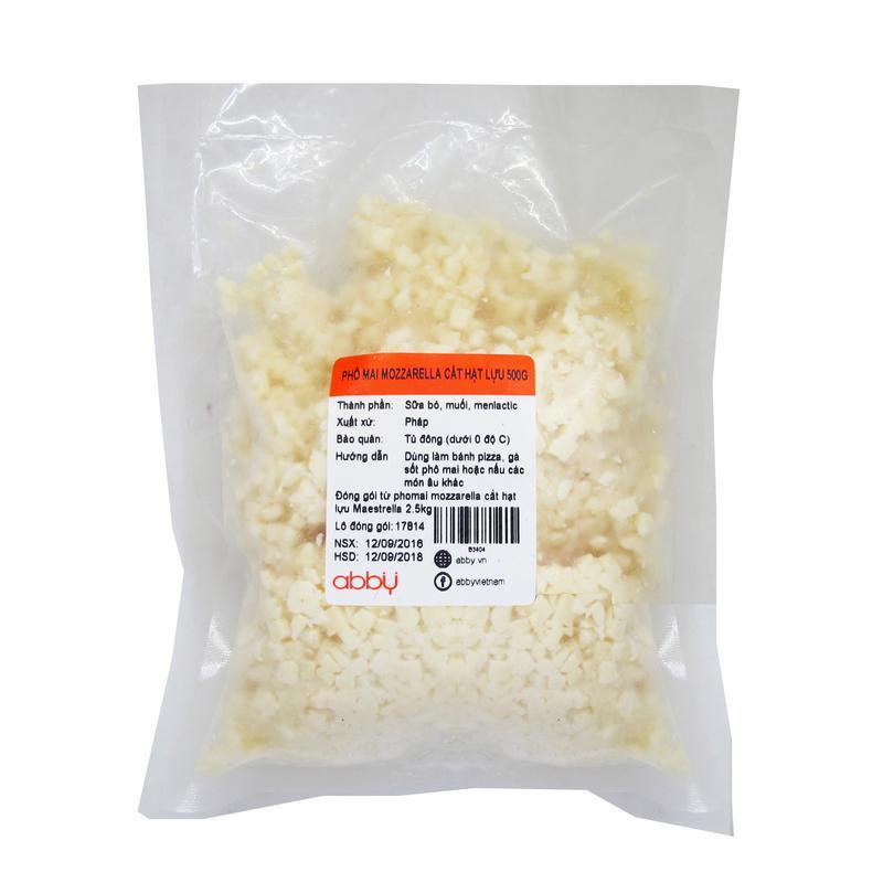 Phô mai mozzarella cắt hạt lựu 500g