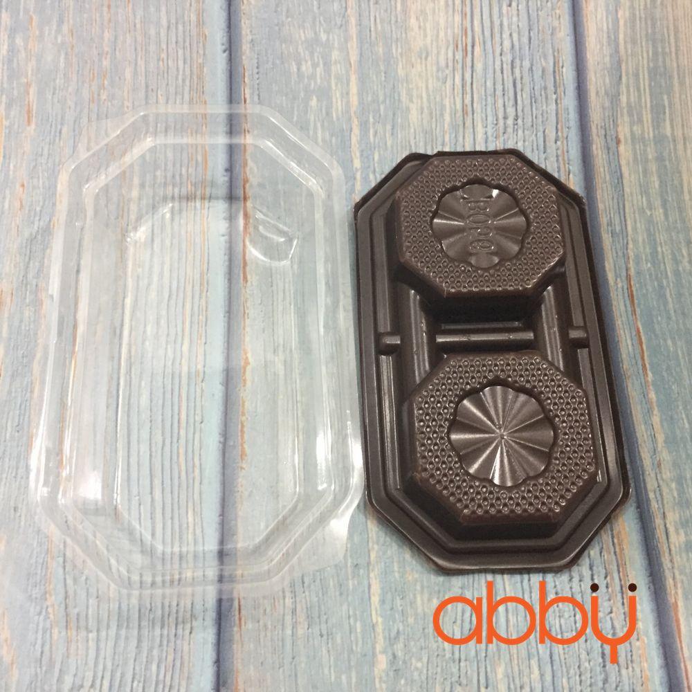 Hộp nhựa 2 ngăn B056 13x7x4cm