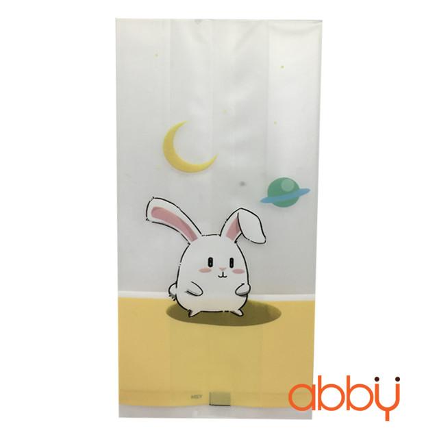 Túi đựng bánh quy thỏ trắng 15x7cm (10 chiếc)