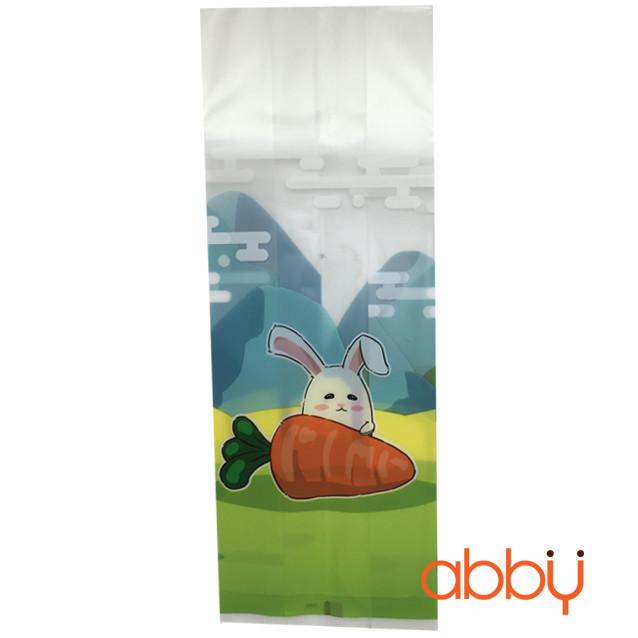 Túi đựng bánh quy thỏ trắng 22x9cm (10 chiếc)