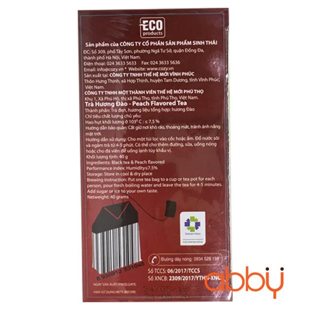 Trà đào túi lọc Cozy 2g x 20 gói (1 hộp)