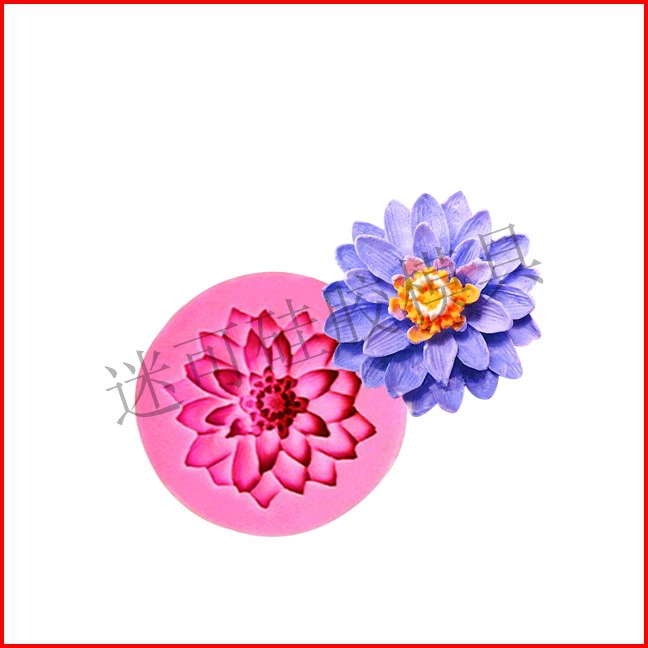 Khuôn silicon 3D hoa cúc