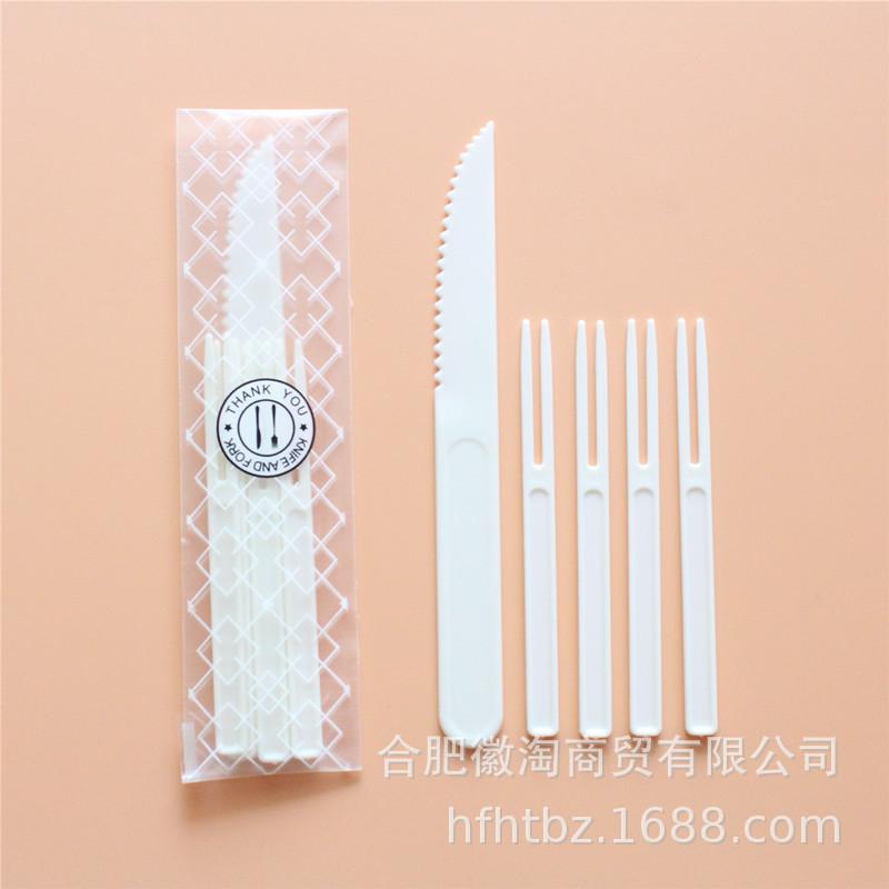 Bộ dao dĩa nhựa (1 dao và 4 dĩa)