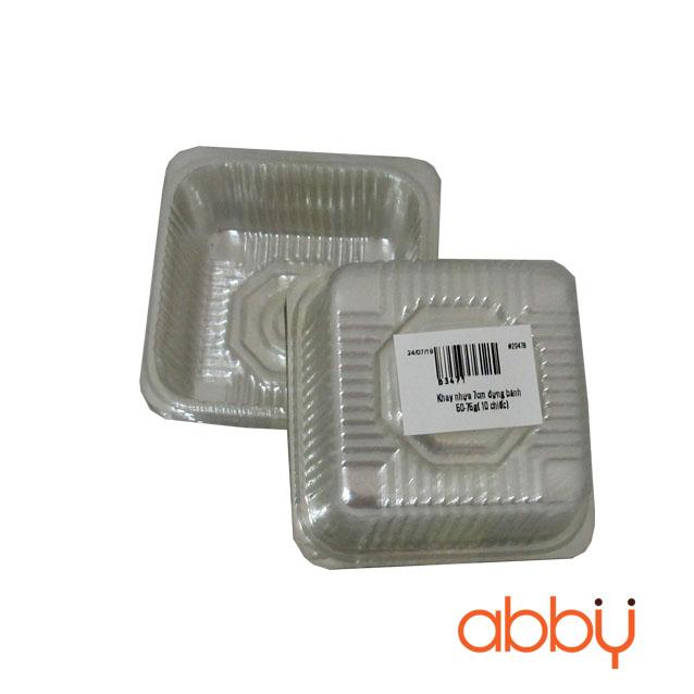 Khay nhựa 7cm đựng bánh 50-75g (150g - khoảng 100 chiếc)