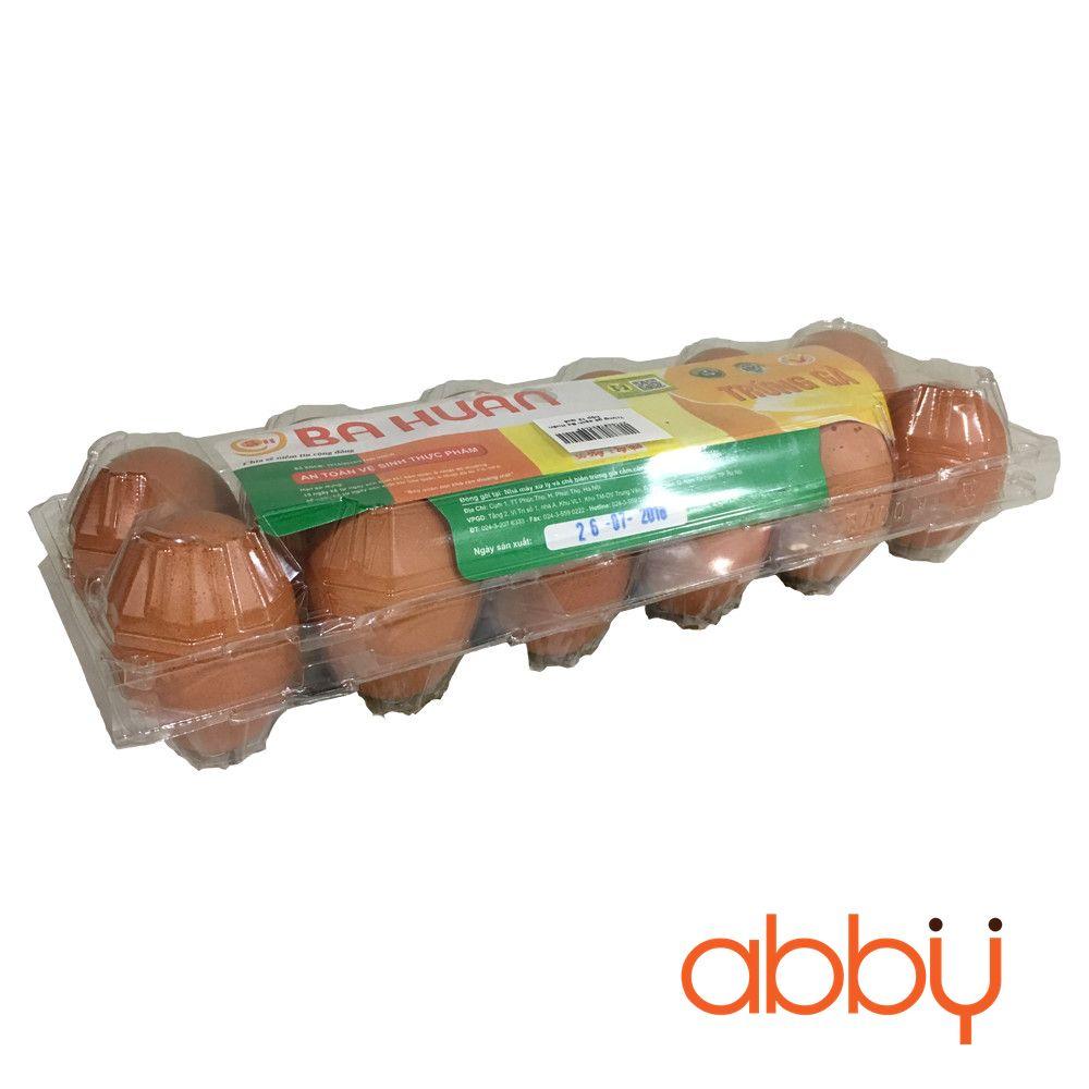 Trứng gà sạch Ba Huân hộp 12 quả