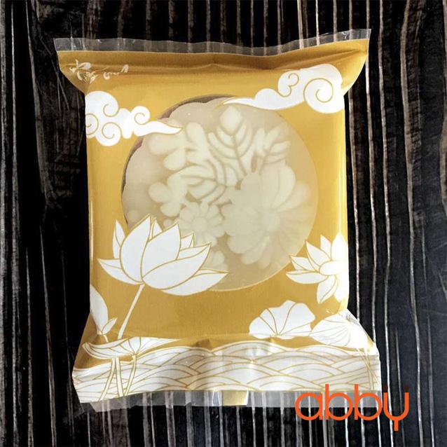 Túi đựng bánh trung thu 125-150g sen vàng (10 túi)
