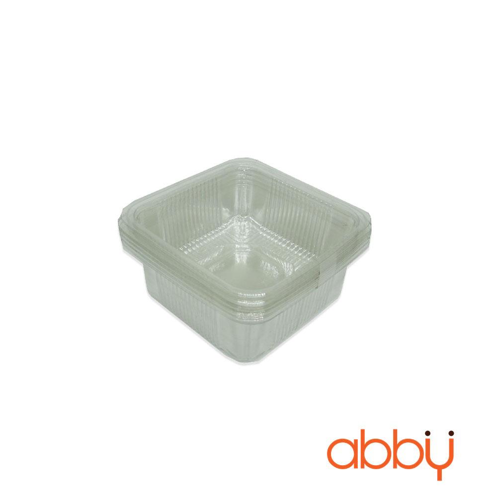 Khay nhựa 8cm đựng bánh 100g (10 chiếc)