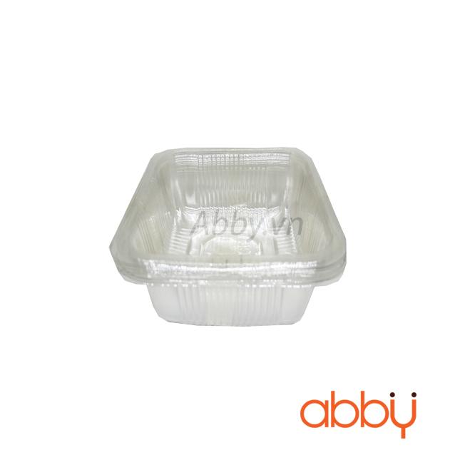 Khay nhựa 10cm đựng bánh 200-250g (10 chiếc)