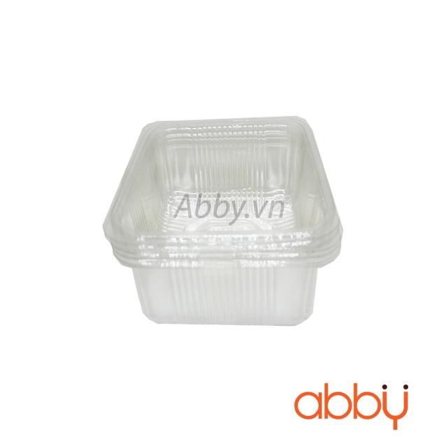 Khay nhựa 9cm đựng bánh 125-150g (10 chiếc)