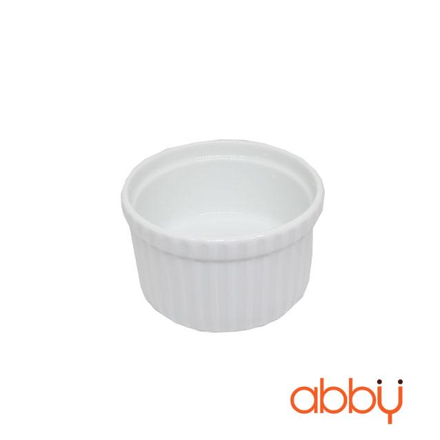 Ramekin sứ 9cm màu trắng