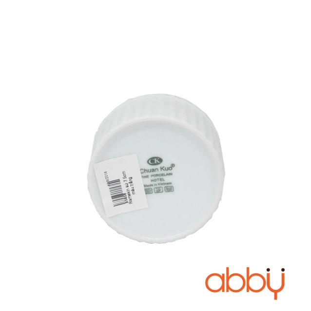 Ramekin sứ 7.5cm màu trắng