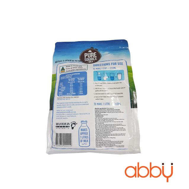 Bột sữa nguyên kem PureSourceMilk 1kg