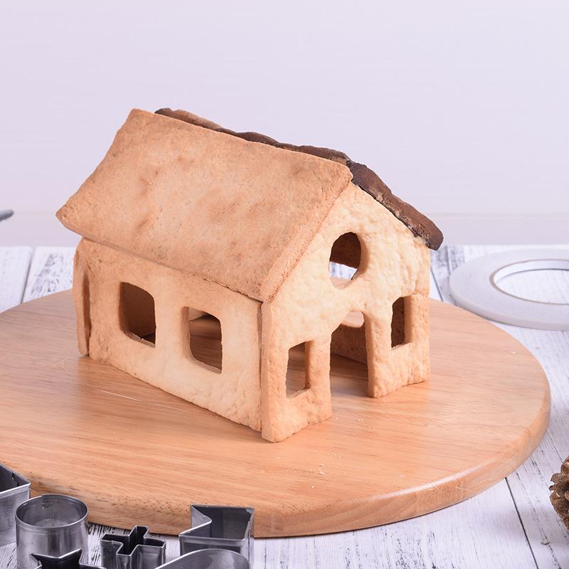 Bộ 10 khuôn nhấn inox hình ngôi nhà 3D