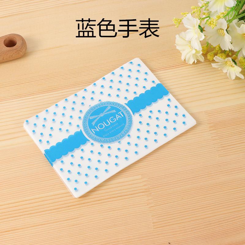 Giấy gói kẹo chấm bi xanh chữ nougat (100 tờ)