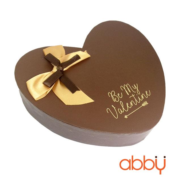 Hộp socola trái tim 14 viên Be my Valentine màu nâu