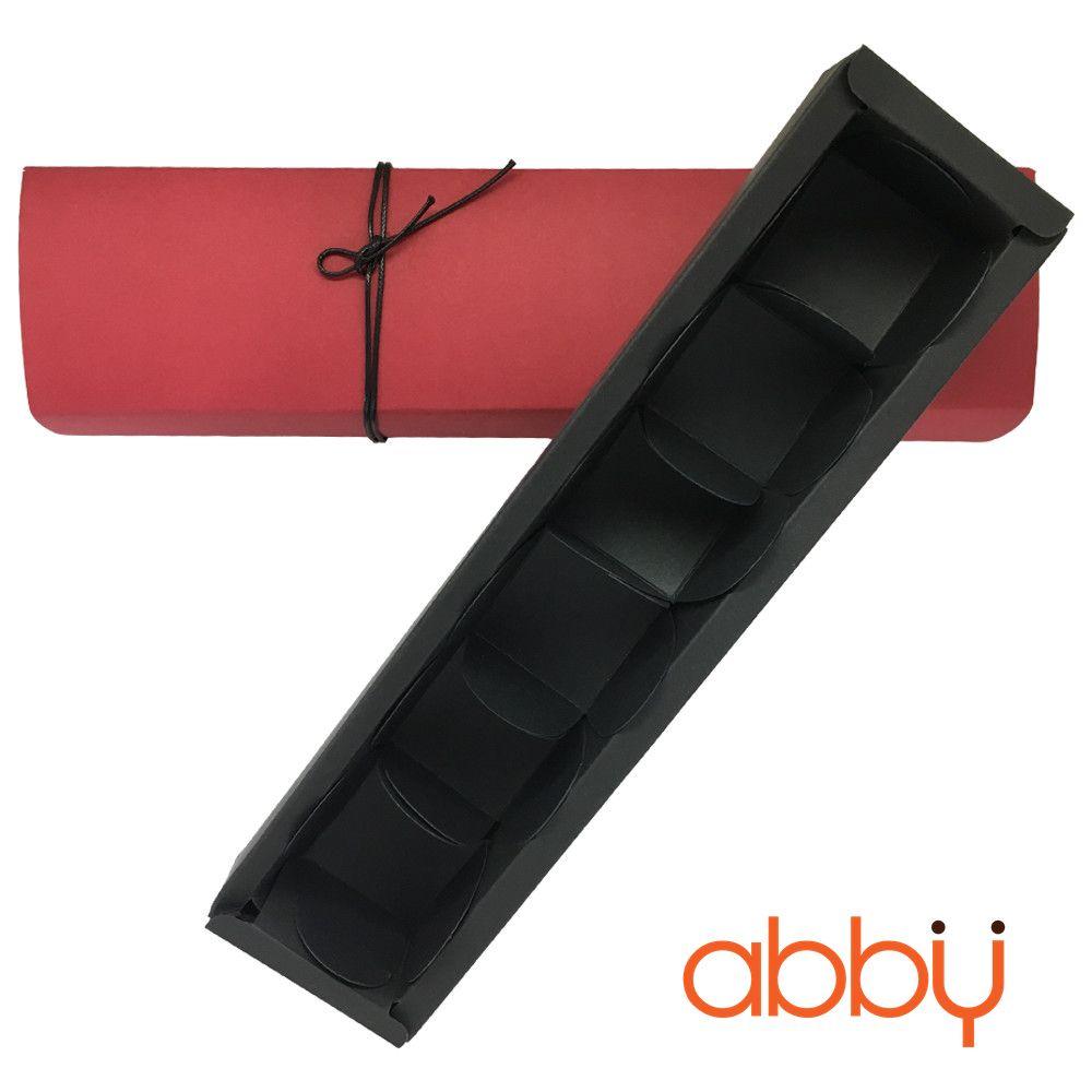 Hộp socola hình chữ nhật 6 viên màu đỏ