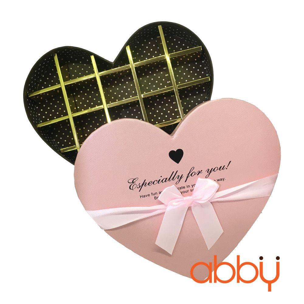 Hộp socola trái tim 18 viên Especially for you màu hồng