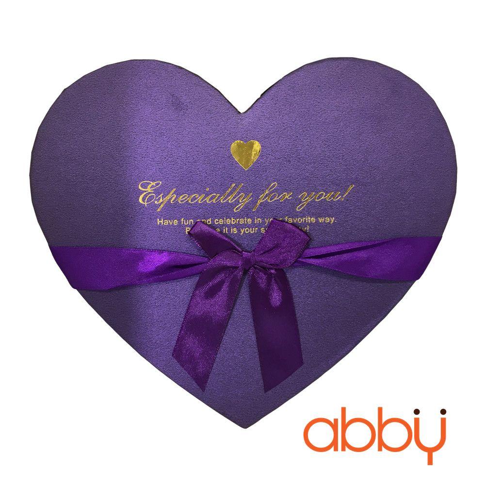 Hộp socola trái tim 18 viên Especially for you màu tím