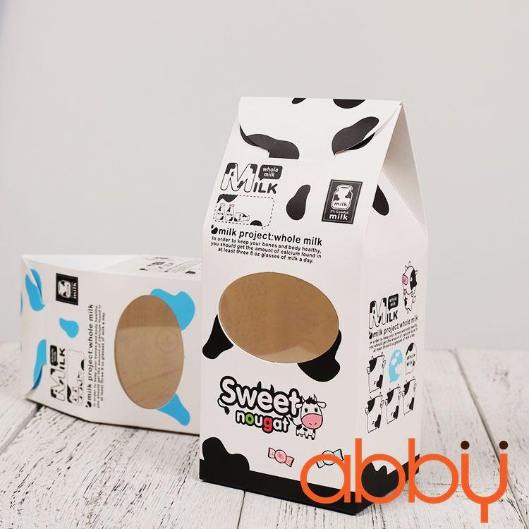 Hộp giấy đựng kẹo nougat 18x8x6.5cm (5 chiếc)