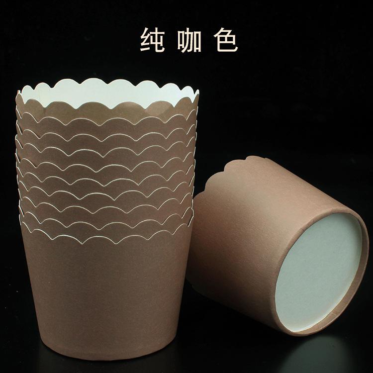 Cup giấy cứng 6x5cm trơn màu nâu (48 - 50 chiếc)