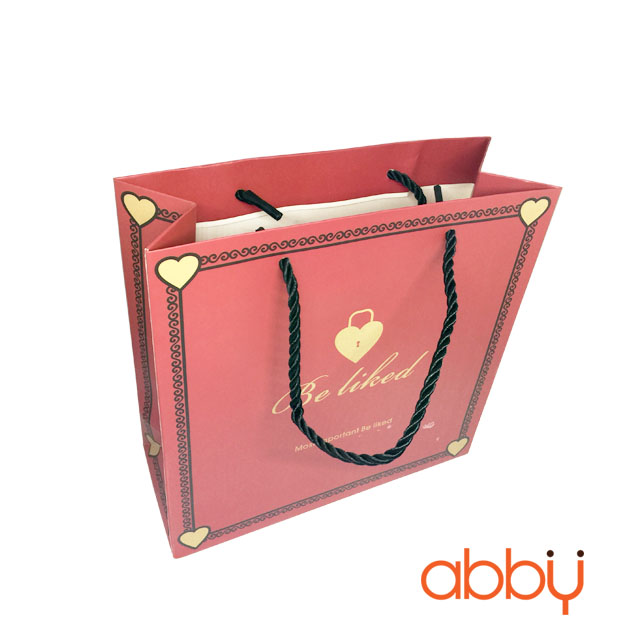 Túi giấy đựng quà có quai xách Be liked 20x8cm