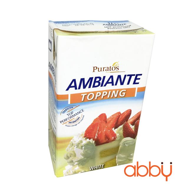 Kem sữa béo Puratos Ambiante 1L