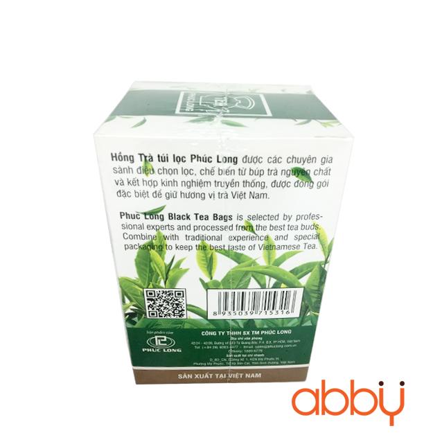 Hồng trà túi lọc Phúc Long 2g x 25 gói (1 hộp)